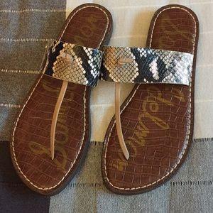 Sam Edelman snake sandals size 7 1/2 worn once
